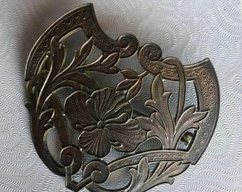 Vintage Copper Art Nouveau Brooch
