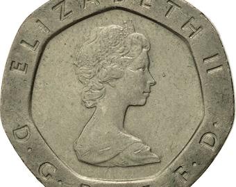great britain elizabeth ii 20 pence 1984 ef(40-45) copper-nickel km931