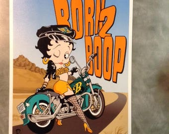Vintage Born to Boop Betty Boop Tin Sign
