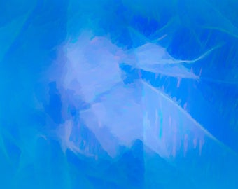 Blue Haze, Wall Hanging,  Abstract, Colorful, Limited Edition