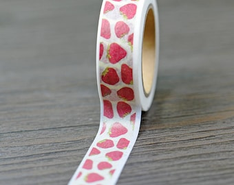 Strawberry Washi Tape - 15mm x 10 Meters - #SW128