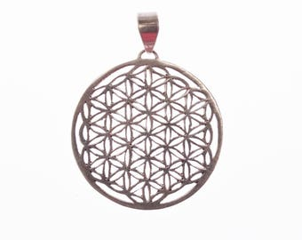 Flower of life of silver medium size