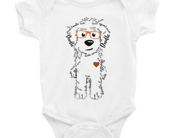 Thanksgiving Fall Doodle Baby Onsie - Baby Shower, goldendoodle, doodle, golden doodle, labradoodle turkey onesie