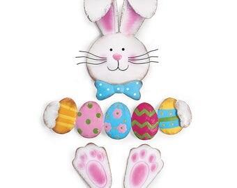 Tin Wreath Kit-Easter Bunny holding egss