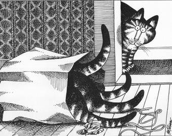 KLIBAN CAT PAINTING.  8x10 reproduction on premium photo paper