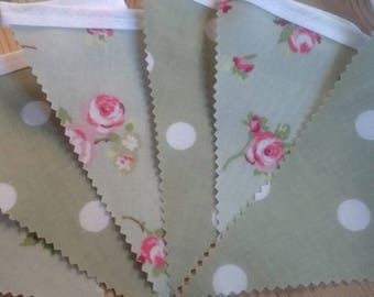 Beautiful handmade pvc bunting suitable for indoor/outdoor use
