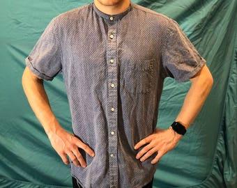 Customized Perry Ellis Mandarin Collar Shirt