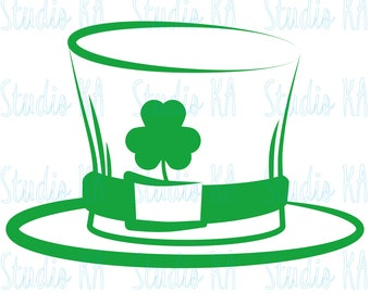 St Patricks day Svg file, St Patricks day Svg cut file, Clipart Clover, Lucky Svg for cricut, Leprechaun Silhouette cameo, st patty's Svg