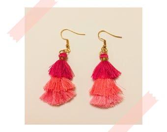 Flamenco Earrings - Pink