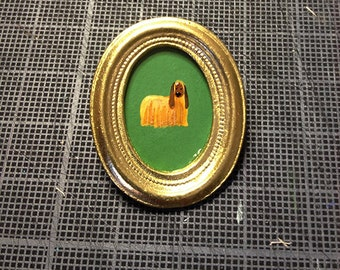 brooch hand - painted Greyhound