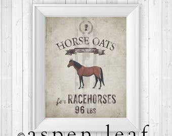 PRINT ** Horse Grain Sack - 8x10, 11x14, 16x20, 20x30