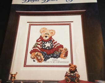 Cross Stitch Boyds Bears and Friends Eddie... Proud To Be A Bearmerican