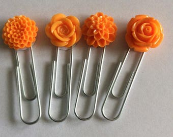 Cabochon Flower Paperclips // Planner accessories for all planners