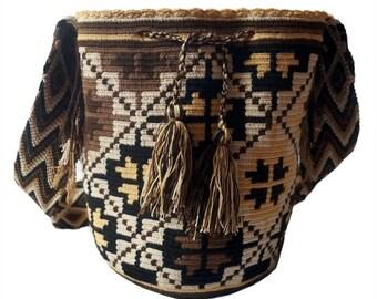 Wayuu Bag-Backpack Wayúu Flores Tierra