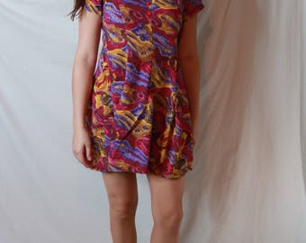 Colorful Vintage Babydoll Dress