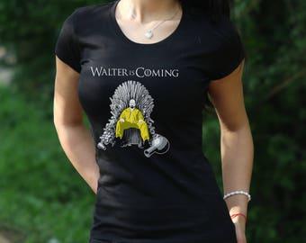 Walter Is Coming Breaking Bad Tshirt Los Pollos Hermanos Shirt reaking Bad T-Shirt Walter White Womens shirt Heisenberg t shirt
