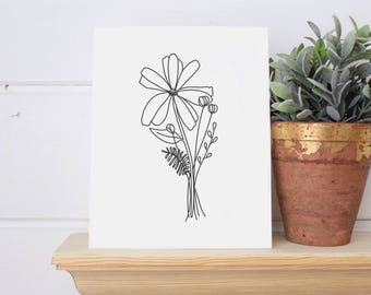 Wildflower Print 8x10