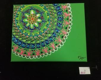 Puff Paint Mandala #3