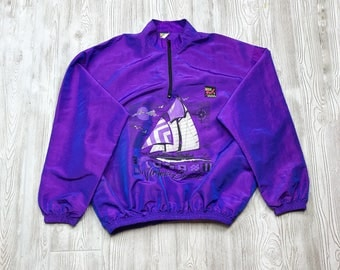 "Surf Style ""Virginia Beach"" Duochrome Iridescent Pullover Windbreaker Jacket - One Size"