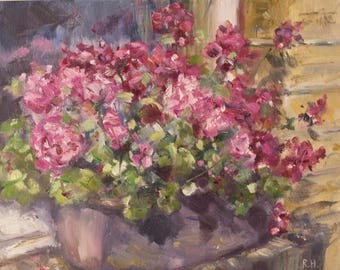 Geraniums on Windowsill (2017)