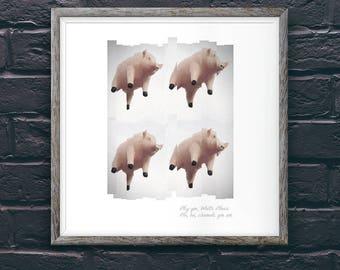 Pink Floyd Pigs A2 Art Print