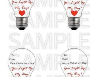 Valentines Day Light Up Label