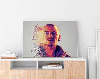 Chester Bennington Poster, Chester Bennington, Chester Bennington Art, Chester Bennington Artwork, Linkin Park, Dead by sunrise, Chester