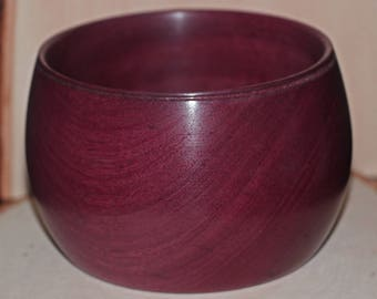 Handcrafted Purpleheart Wood Bowl