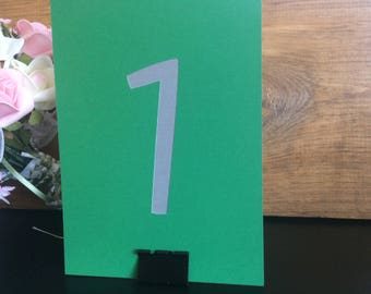 Rectangle Table Numbers Portrait