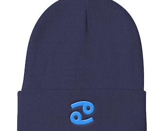 Cancer Zodiac Sign Knit Beanie