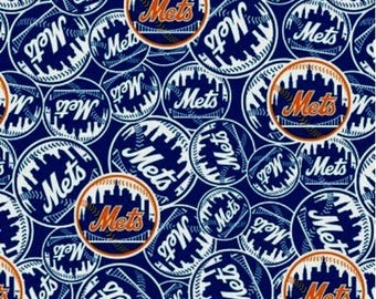 New York Mets Cotton Fabric by the Yard