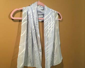 Blue light weight scarf