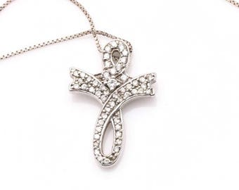 Silver Necless Pendent with cubic zirconia's