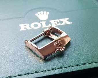 New Rolex 16mm Watch Strap Buckle Gold Plated.