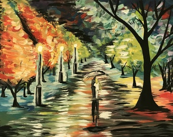 Custom Painting Example - Bright Colors, Landscape