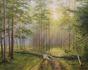 Morning. Path to Pine Woods