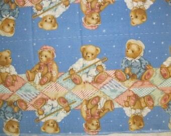 Cotton Fabric Teddy Bear Panels