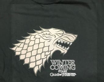 Game Of Thrones Tee's - Winter Is Coming Stark Family