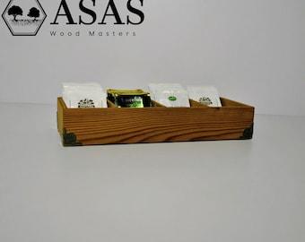 Handmade Wooden tea box / great gift