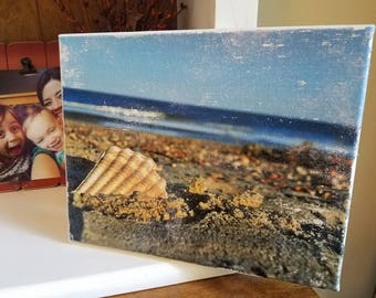 Distressed Canvas (of your own personal photo)