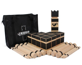 Kubb Game - Premium Hardwood Kubb Set - Official Tournament Size Kubb Lawn Game - Kubb Original Yard Game - Kubb Tournament Edition