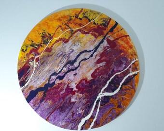 Circle Acrylic Resin Art