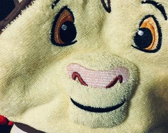 Lion hooded towel.