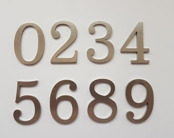5 cm Stainless Steel Number Numeral Satin Finish