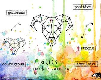 Zodiac Aries Stamp Set