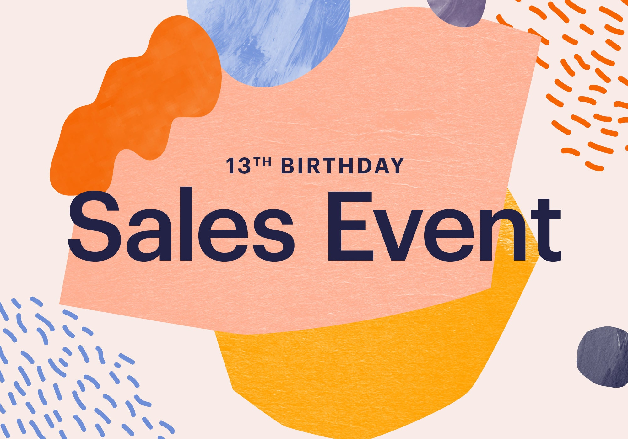 etsy s 13th birthday sales event
