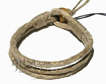Simple and Stylish! Three Strands Hemp Bracelet or Anklet