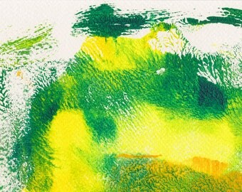 New Growth monoprint fresh yellows and greens