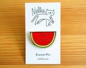 Watermelon Enamel Pin