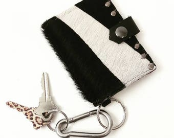 SALE Zebra Printed Cowhide Wallet